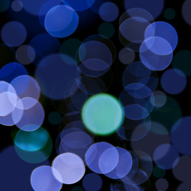 """Blue bokeh circles blurry texture"" stock image"