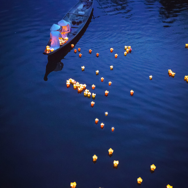 """Praying on the river 1"" stock image"