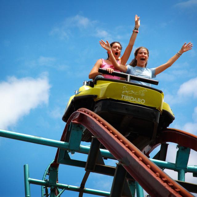 """Tibidabo Roller Coaster"" stock image"