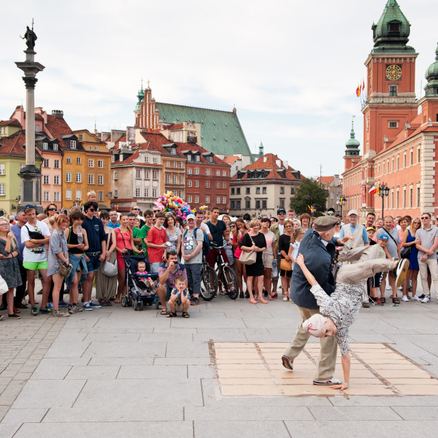 """""""Oldie breakdance show"""" stock image"""