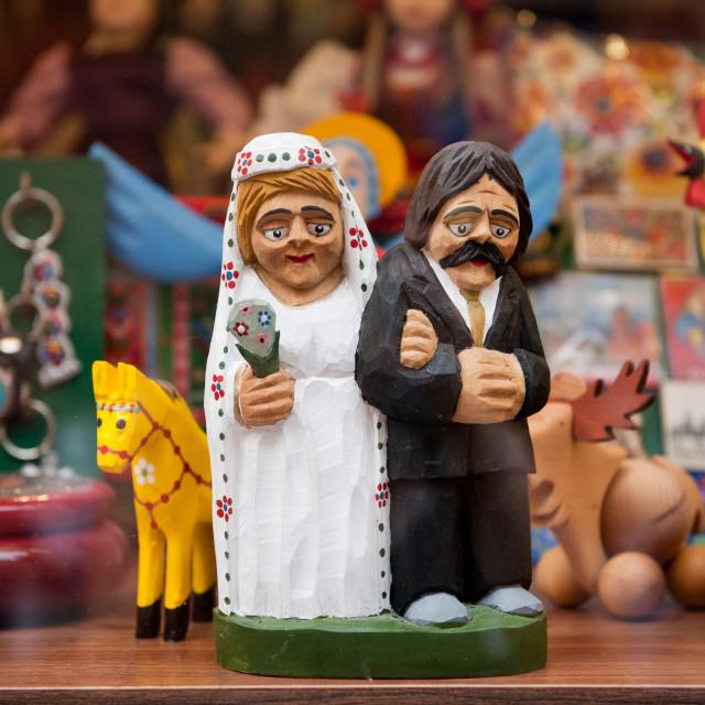 """Wedding old newlyweds souvenir"" stock image"
