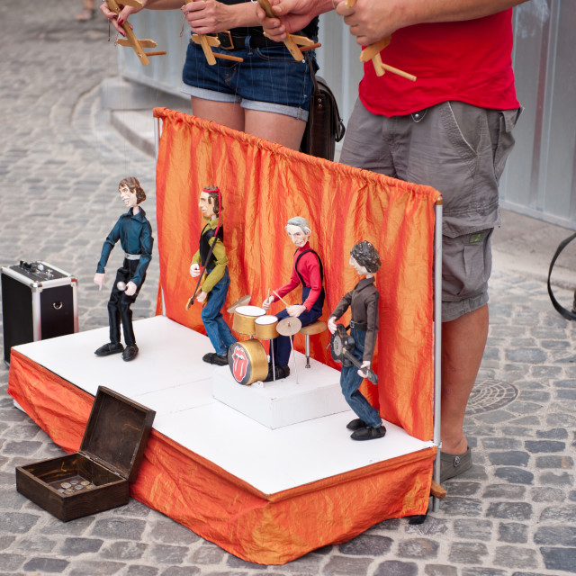 """Rod puppets art show gig"" stock image"
