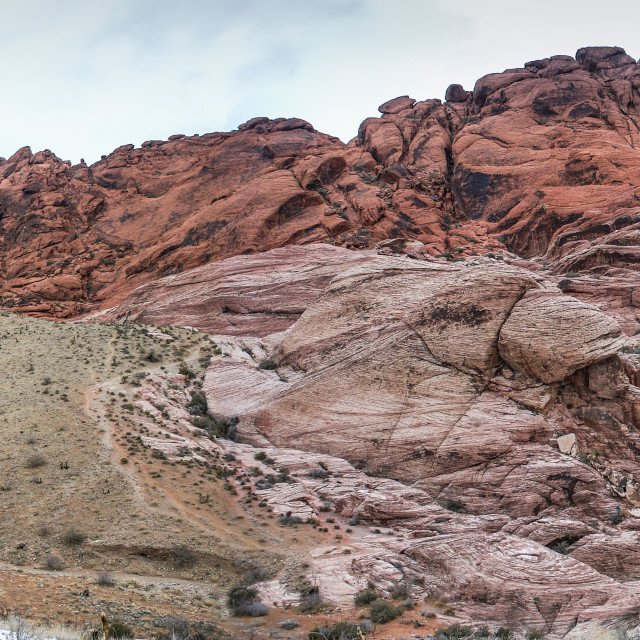 """Red Rock Canyon, Calico hills"" stock image"