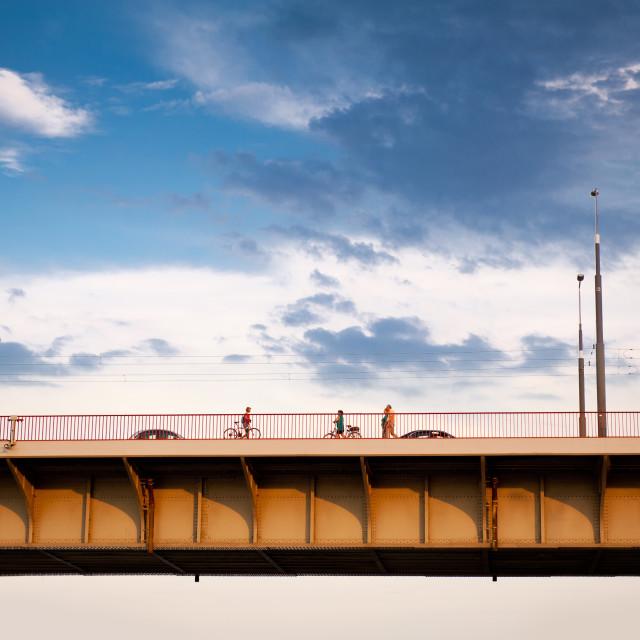 """Slasko Dabrowski Bridge part view"" stock image"