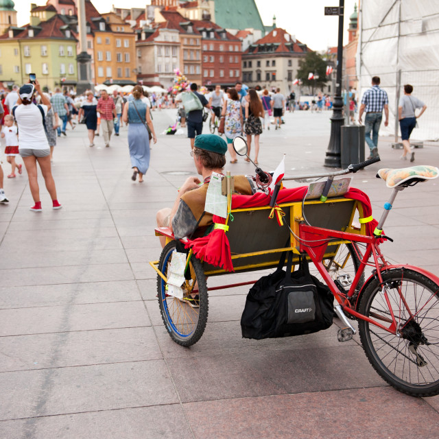 """""""Pedicab at the Old Town"""" stock image"""