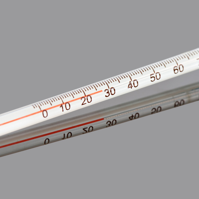 """""""Red alcohol tea thermometer"""" stock image"""