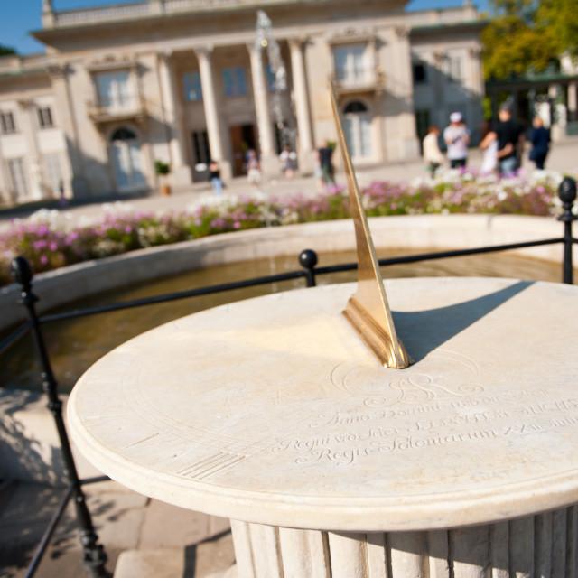 """Stanislaw August Imieninowy Sundial"" stock image"