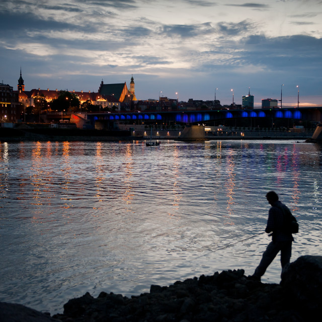 """Old Town across Vistula River"" stock image"