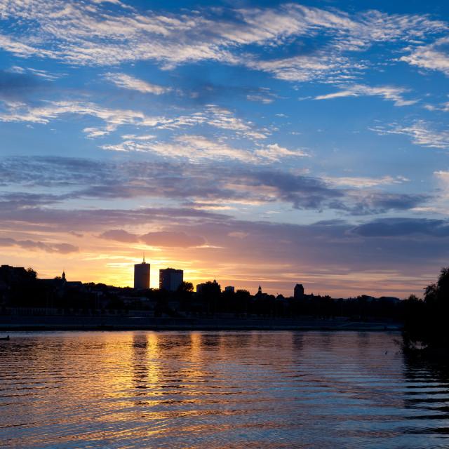 """Vistula River skyline panorama"" stock image"