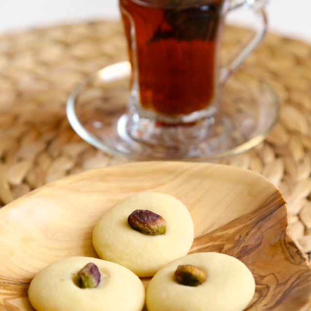 """Ghraybeh (Middle Eastern Cookies)"" stock image"