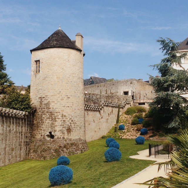 """""""Tower walls, Quimper, Brittany"""" stock image"""