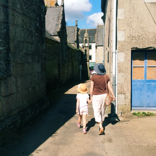 """""""Alleyway, Brittany"""" stock image"""