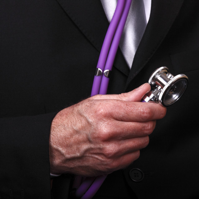 """Man with stethoscope"" stock image"