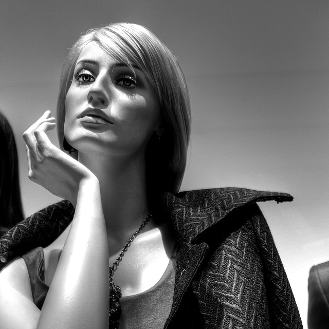 """Mannequin B&W"" stock image"
