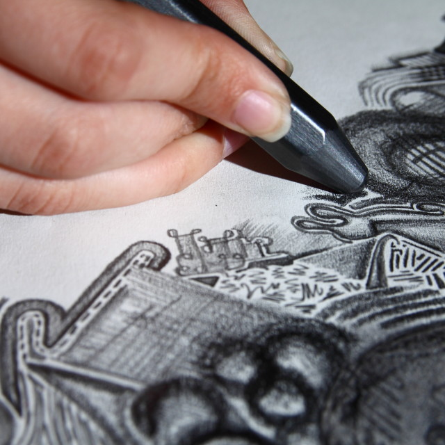 """Artist drawing"" stock image"