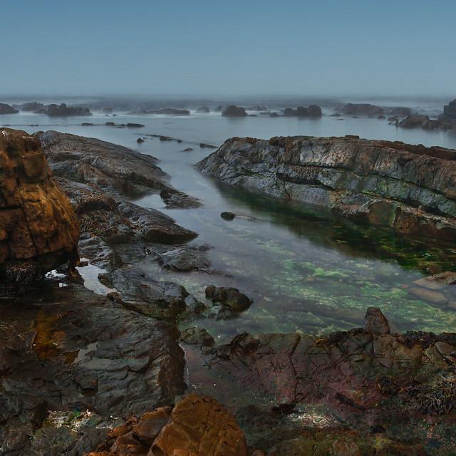 """Misty Coastline"" stock image"