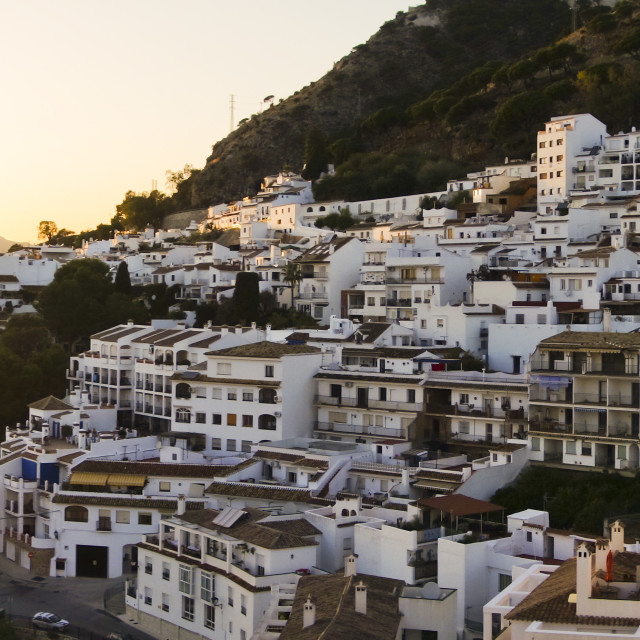 """White washed village of Mijas"" stock image"