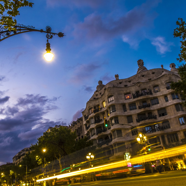 """La Pedrera by Antoni Gaudi in Barcelona"" stock image"
