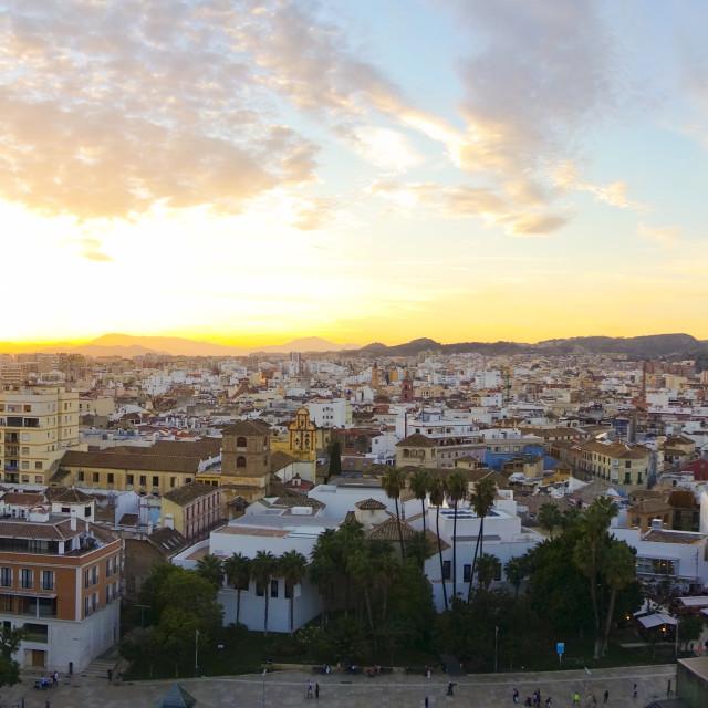 """Panoramic view of Malaga"" stock image"