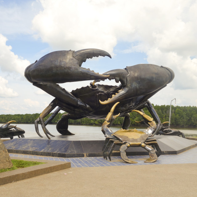 """Mud crab statue at Krabi"" stock image"