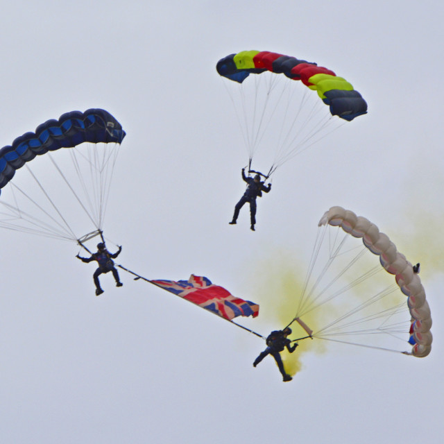 """Tigers Parachute Team"" stock image"
