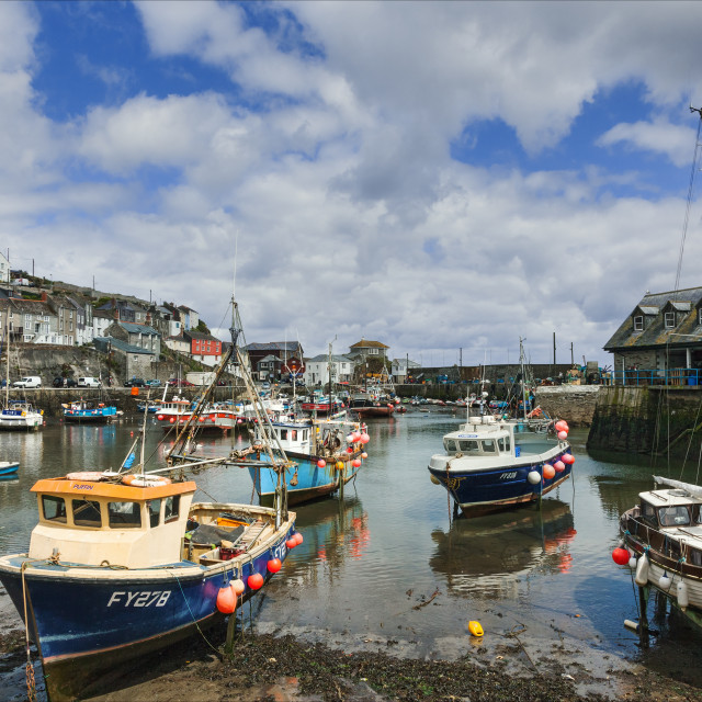 """""""Mevagissey Harbour in Spring"""" stock image"""