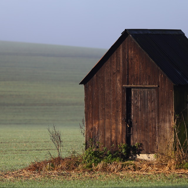 """Lone shed"" stock image"