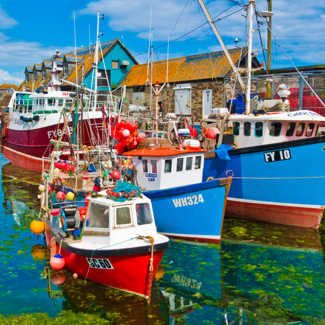 """""""Mevagissey Harbour, Cornwall"""" stock image"""