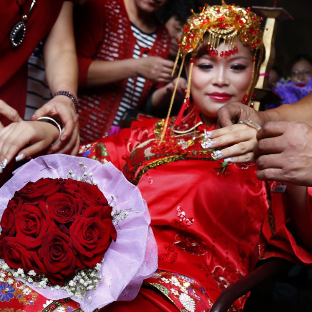 """Chinese traditional wedding"" stock image"