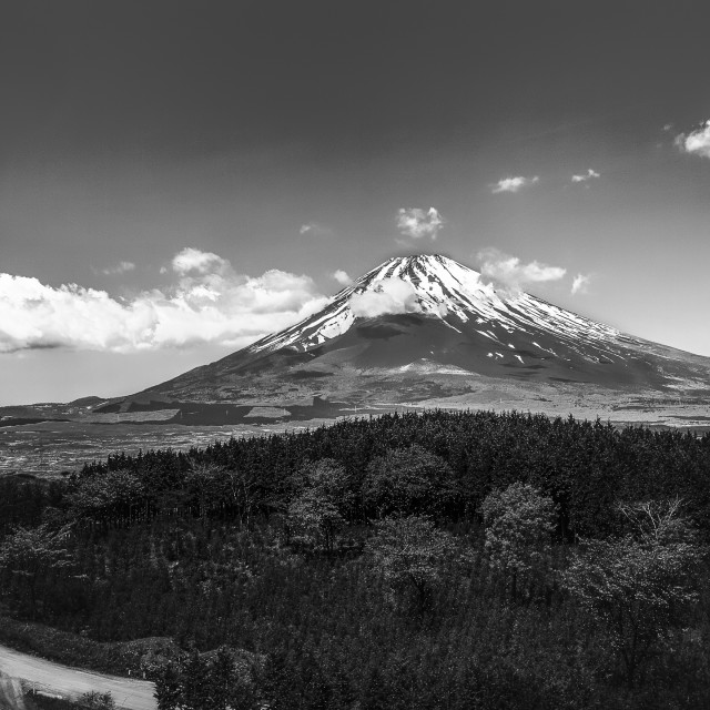 """The road to Fuji mountain"" stock image"