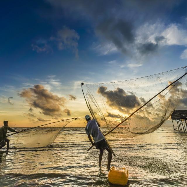 """""""Livelihood on beach"""" stock image"""