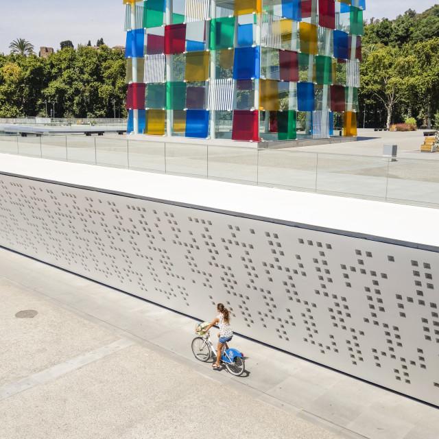 """The cube of Malaga"" stock image"