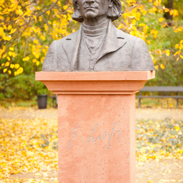 """""""Bust of Ferenc Liszt composer"""" stock image"""
