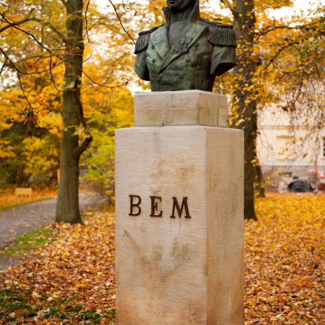 """Bust of Polish General Joseph Bem"" stock image"