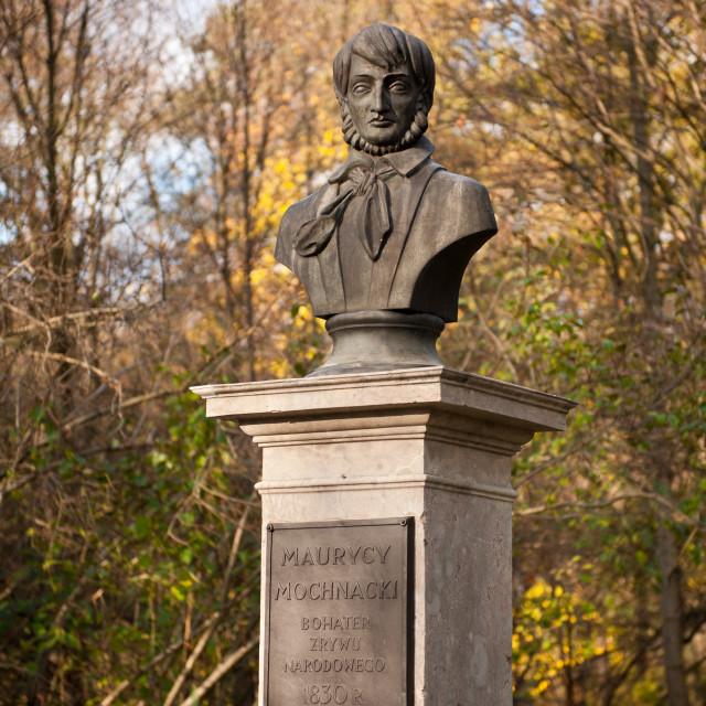 """""""Bust monument of Maurycy Mochnacki"""" stock image"""