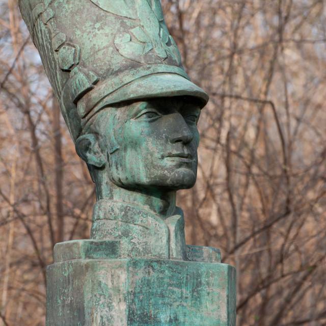 """""""Piotr Wysocki bust statue"""" stock image"""