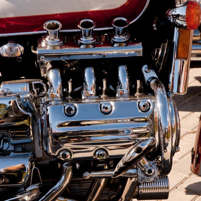 """New shining Harley Davidson motor"" stock image"