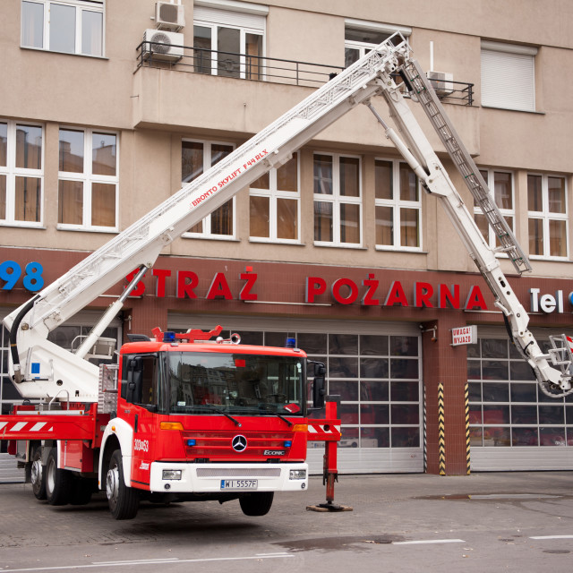 """Elevator of fire brigade"" stock image"