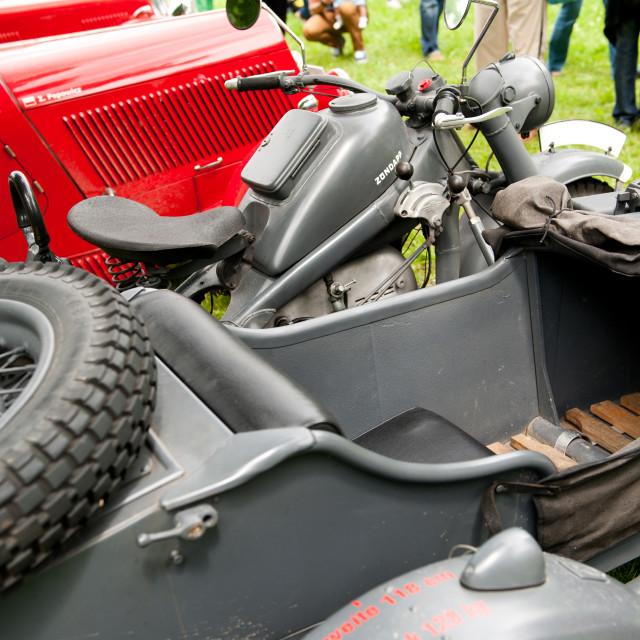 """Zundapp motor seat"" stock image"