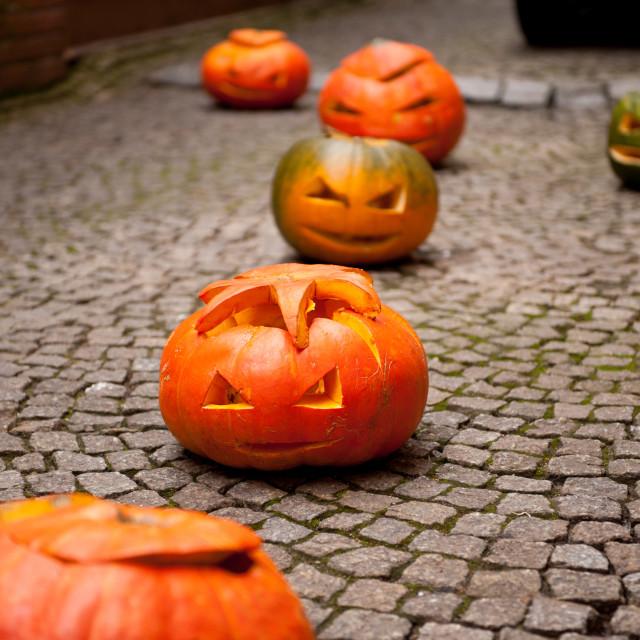 """Pumpkins for Halloween"" stock image"