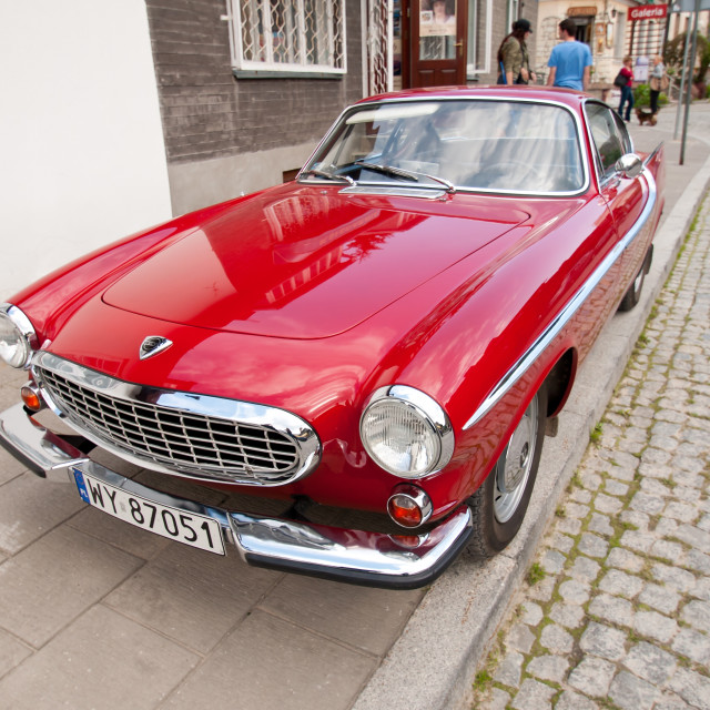"""""""Old Red Volvo vintage classic car"""" stock image"""