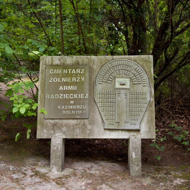 """""""Signboard at Russian War Cemetery"""" stock image"""