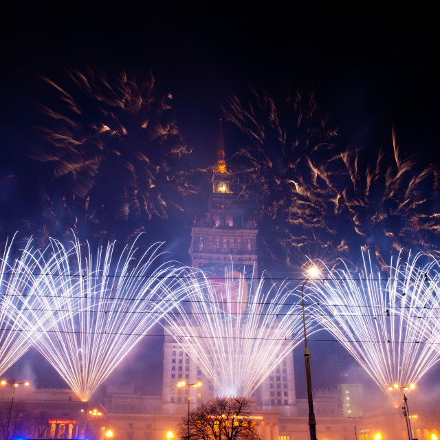 """Breathtaking fireworks at 22nd GOCC"" stock image"