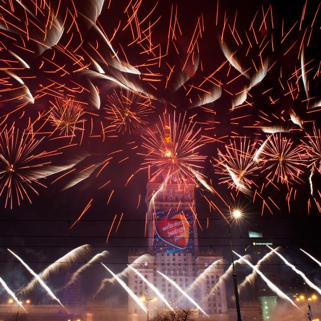 """Beautiful fireworks at 22nd GOCC"" stock image"