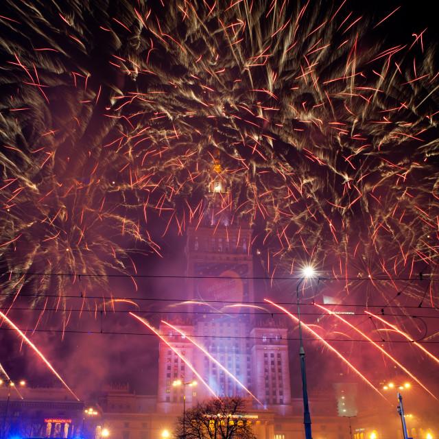 """Bountiful fireworks at 22nd GOCC"" stock image"