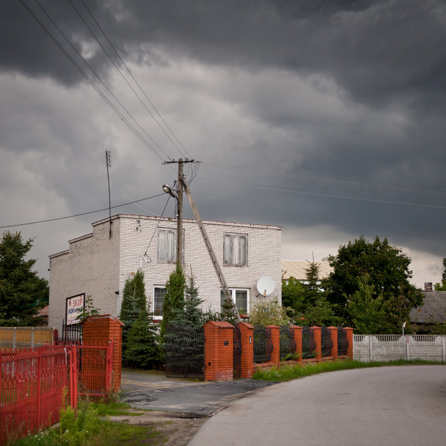 """Gloomy stormy weather"" stock image"