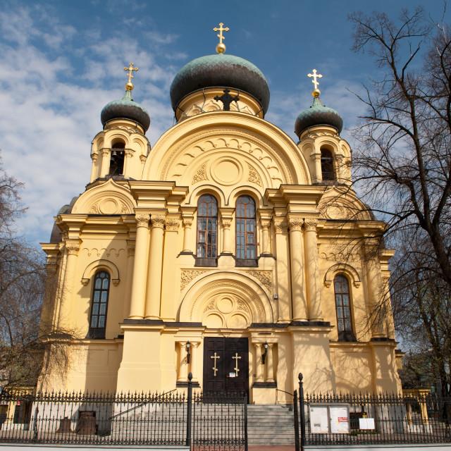 """Eastern Orthodox Church in Warsaw"" stock image"