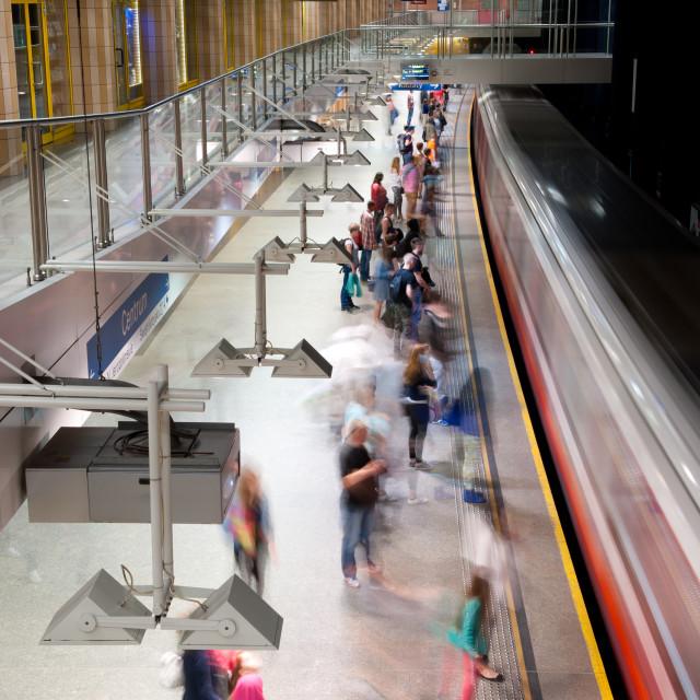 """""""Metro motion people waiting"""" stock image"""