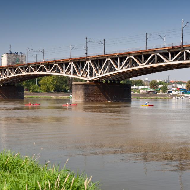 """Poniatowski Bridge at Vistula"" stock image"
