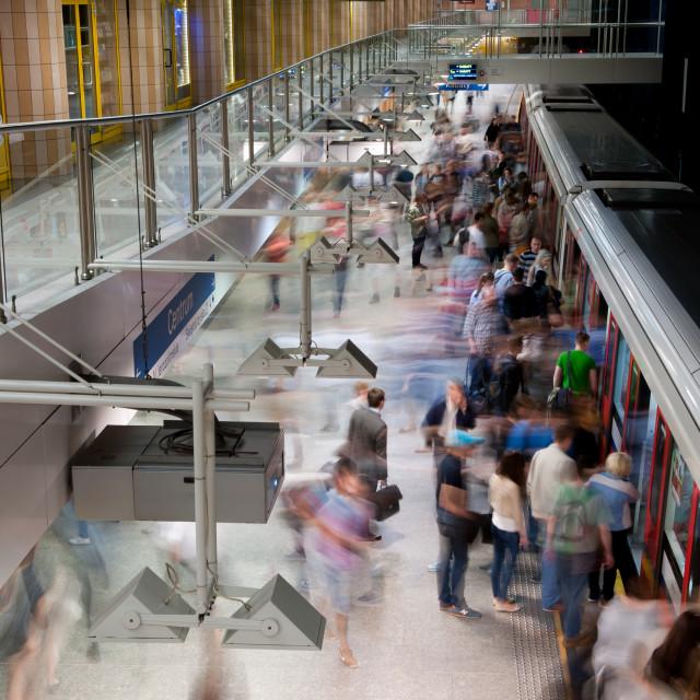 """Metro passengers motion"" stock image"